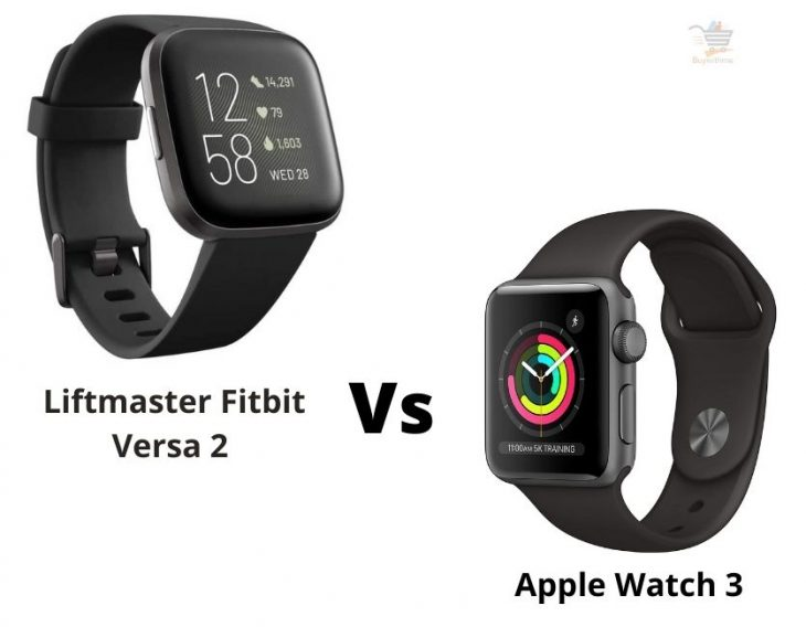 Fitbit Versa 2 vs Apple Watch 3